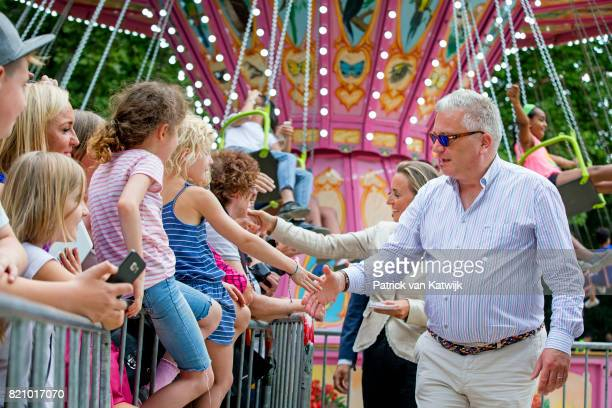 Prince Laurent of Belgium attend the festivities in the Warandepark on the occasion of the Belgian National Day in the Cathedral on July 21 2017 in...