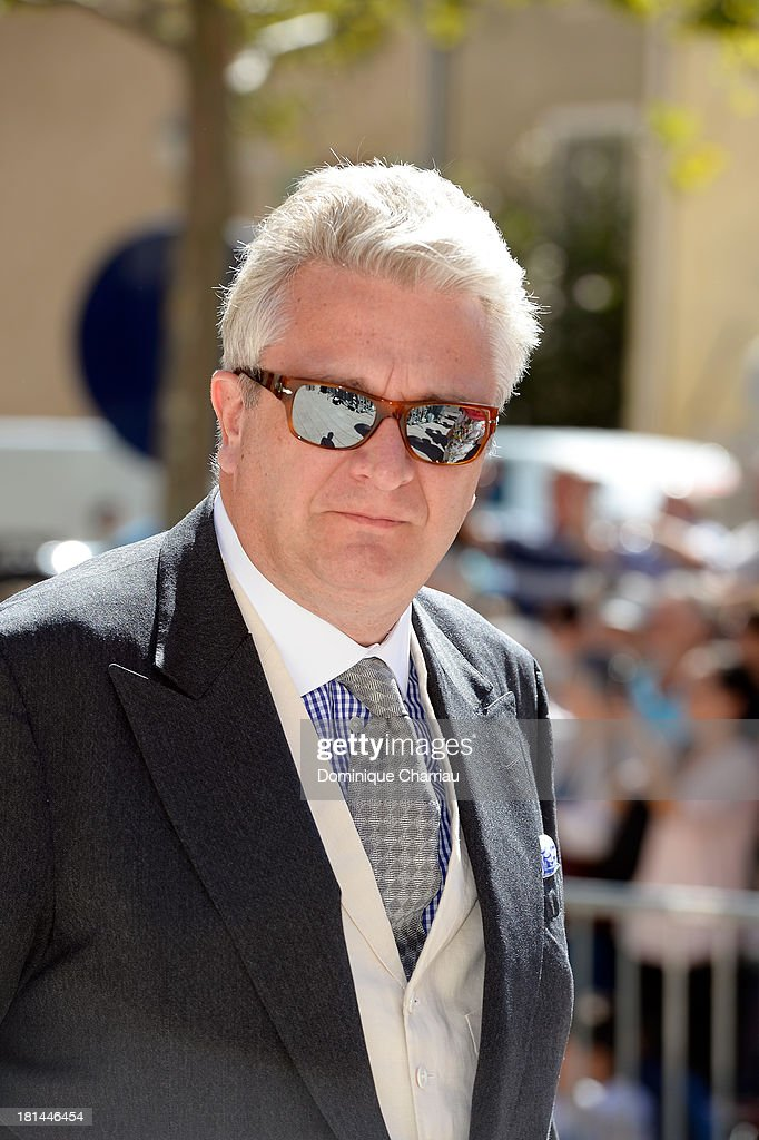 Prince Laurent of Belgium attends the Religious Wedding Of Prince Felix Of Luxembourg and Claire Lademacher at Basilique Sainte Marie-Madeleine on September 21, 2013 in Saint-Maximin-La-Sainte-Baume, France.