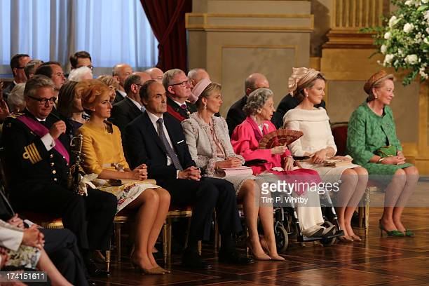 Prince Laurent of Belgium Princess Claire of Belgium Prince Lorenz of BelgiumPrincess Astrid of Belgium Queen Fabiola of BelgiumPrincess Mathilde of...