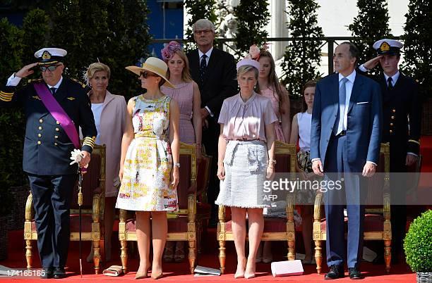 Prince Laurent of Belgium Princess Claire of Belgium Princess Astrid of Belgium Prince Lorenz of Belgium Princess Lea Princess Maria Laura Princess...