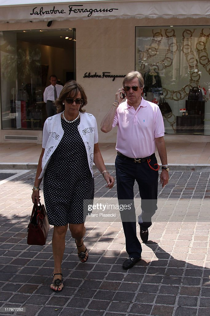 H. Prince Leopold of Bavaria (R) and his wife Uschi of Bavaria (L) are sighted around the 'Hermitage' hotel before the Royal Wedding of <a gi-track='captionPersonalityLinkClicked' href=/galleries/search?phrase=Prince+Albert+II+of+Monaco&family=editorial&specificpeople=201707 ng-click='$event.stopPropagation()'>Prince Albert II of Monaco</a> to <a gi-track='captionPersonalityLinkClicked' href=/galleries/search?phrase=Charlene+-+Princess+of+Monaco&family=editorial&specificpeople=726115 ng-click='$event.stopPropagation()'>Charlene</a> Wittstock in the main courtyard at on July 2, 2011 in Monaco, Monaco.