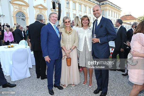Prince Leopold Poldi of Bavaria Fuerstin Gloria von Thurn und Taxis and her son Prince Albert von Thurn und Taxis and Princess Ursula Uschi of...