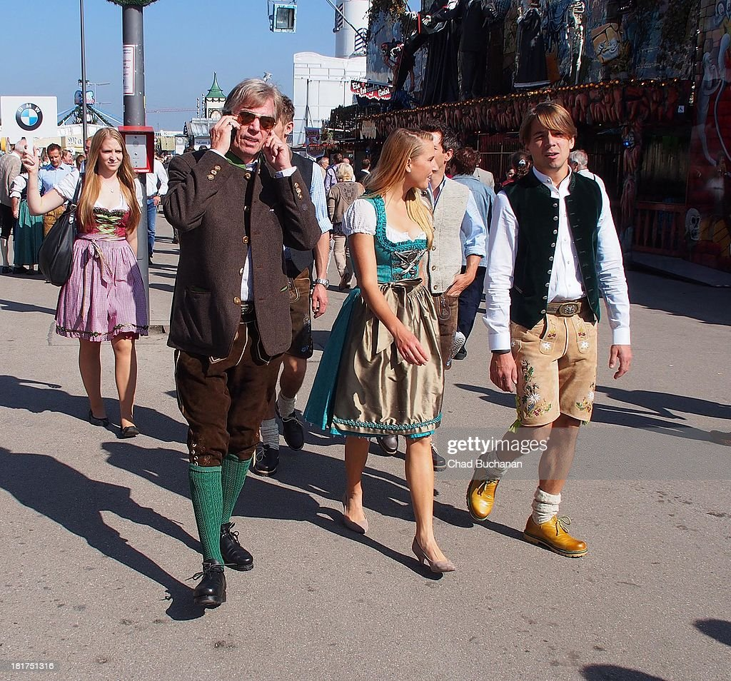 Prince Leopold von Bayern and Ingalena Heuck sighting at Theresienwiese on September 24, 2013 in Munich, Germany.