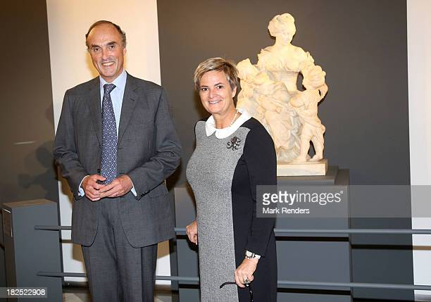 Prince Lorentz of Belgium and Princess Gloria Von Thurn Und Taxis visit the Musee des Beaux Arts on September 29 2013 in Brussels Belgium