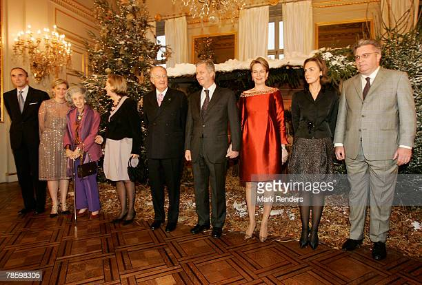 Prince Lorentz Princess Astrid Queen Fabiola Queen Paola King Albert Prince Philippe Princess Mathilde Princess Claire and Prince Laurent from the...
