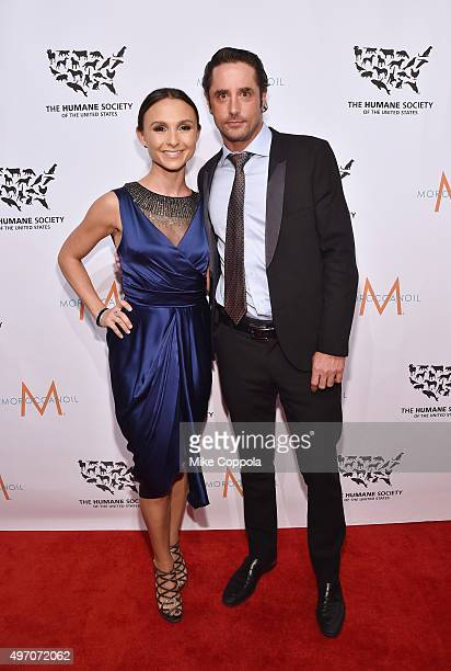 Prince Lorenzo Borghese and Georgina Bloomberg pose for a picture during the 2015 To The Rescue New York Gala at Cipriani 42nd Street on November 13...