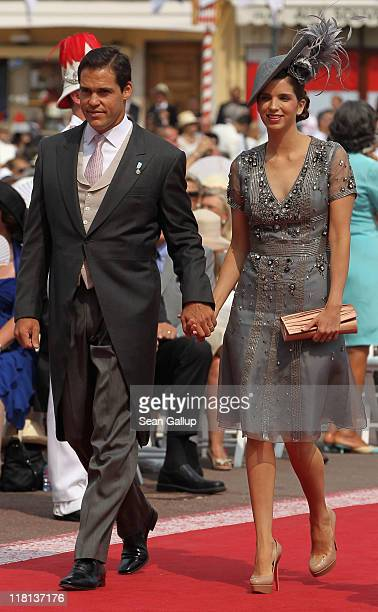 Prince Louis Alphonse of Bourbon and Princess Marie Marguerite attend the religious ceremony of the Royal Wedding of Prince Albert II of Monaco to...