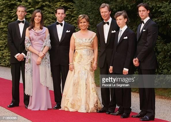 Prince Louis of Luxembourg Princess Alexandra of Luxembourg Prince Guillaume of Luuxembourg Duchess Maria Teresa of Luxembourg Grand Duke Henri of...