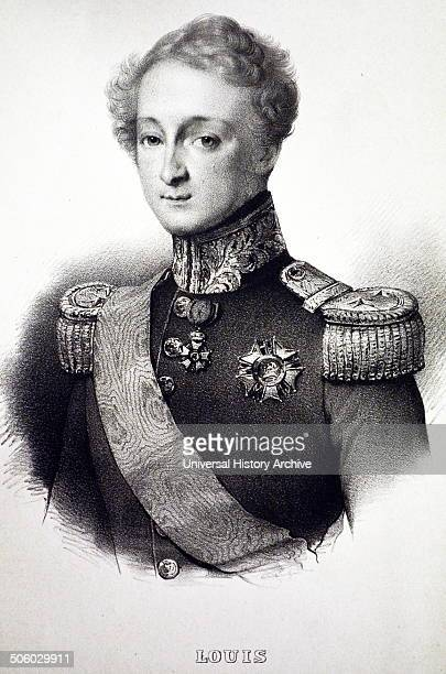 Prince Louis of Orleans Duke of Nemours second son of Louis Philippe I of France Lithograph Paris c1840 Photo by