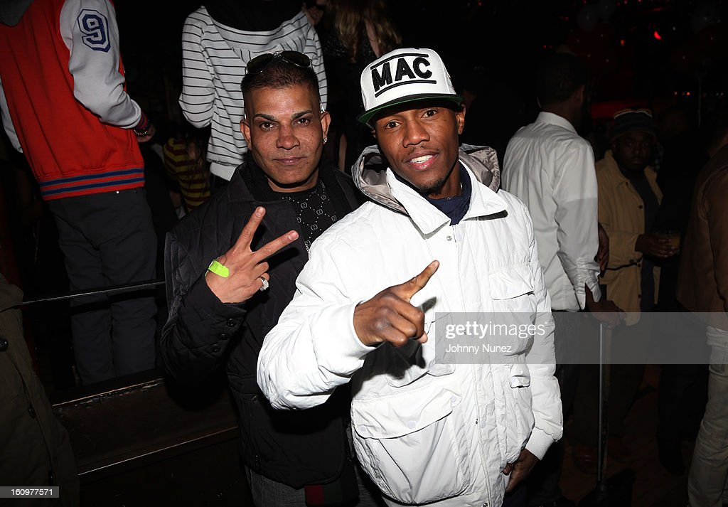Prince Malik and <a gi-track='captionPersonalityLinkClicked' href=/galleries/search?phrase=Zab+Judah&family=editorial&specificpeople=172008 ng-click='$event.stopPropagation()'>Zab Judah</a> attend Kid Capri's Birthday Party at Greenhouse on February 7, 2013 in New York City.