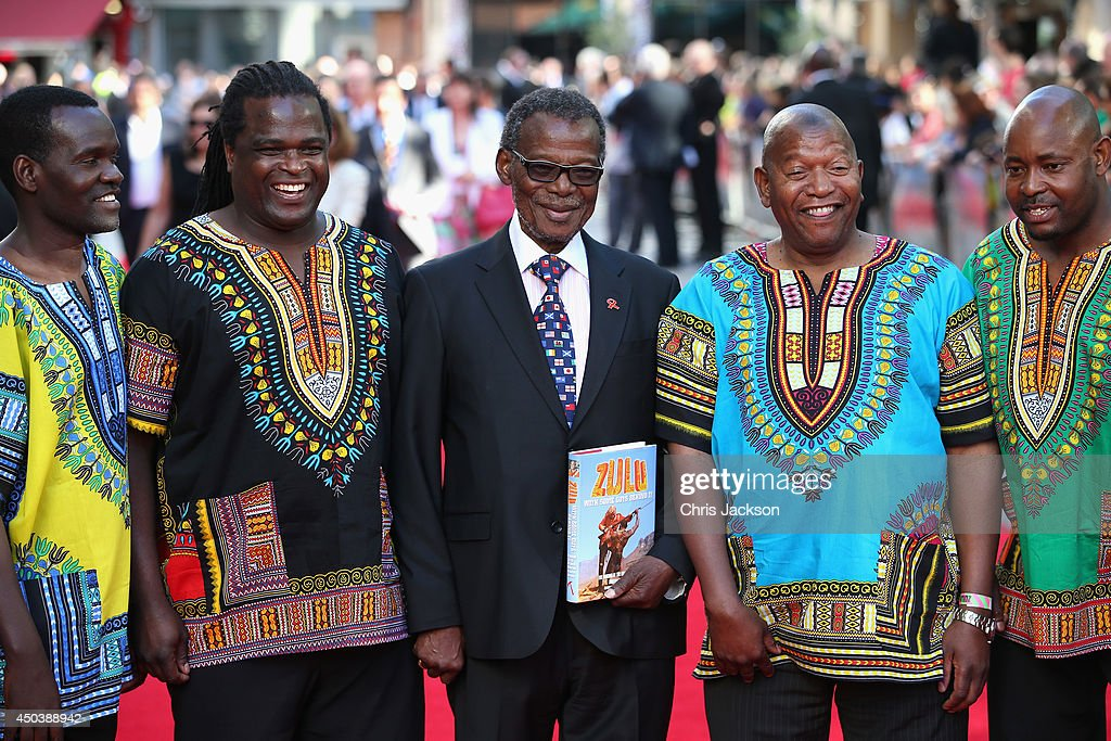 HE Prince Mangosuthu Buthelezi arrives for the 50th anniversary screening of Zulu at Odeon Leicester Square on June 10, 2014 in London, England.