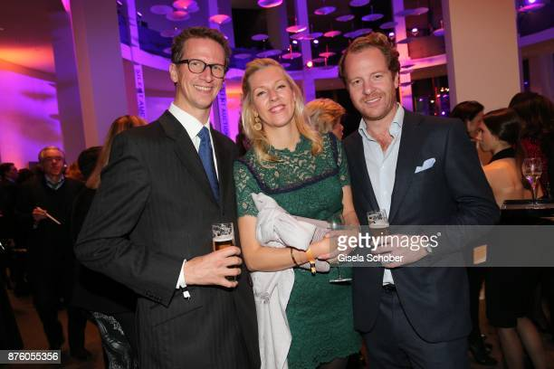 Prince Manuel von Bayern and his sister Princess Felipa von Bayern and her husband Christian Dienst during the PIN Party 'Let's party 4 art' at...