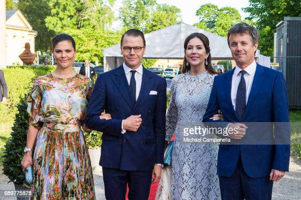Prince Mary of Denmark Princess Victoria of Sweden Prince Frederik of Denmark and Prince Daniel of Sweden attend an official dinner at Eric...