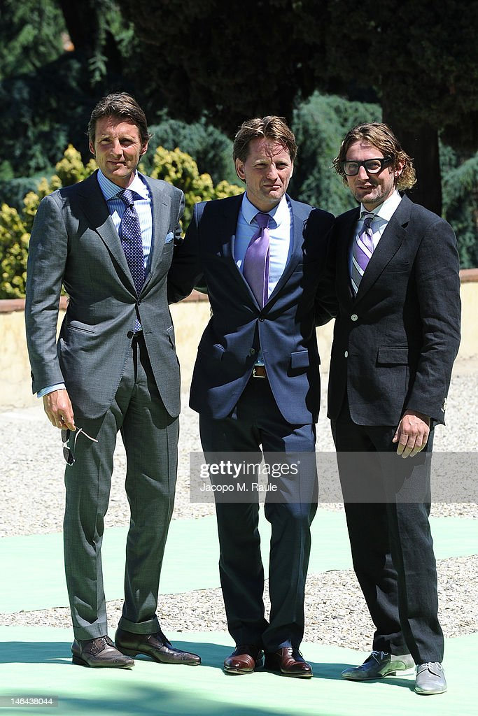 Prince Maurits, Prince Pieter-Christiaan of Orange-Nassau, van Vollenhoven and <a gi-track='captionPersonalityLinkClicked' href=/galleries/search?phrase=Prince+Bernhard+of+the+Netherlands&family=editorial&specificpeople=218210 ng-click='$event.stopPropagation()'>Prince Bernhard of the Netherlands</a> arrive for the Princess Carolina Church Wedding With Mr Albert Brenninkmeijer at Basilica di San Miniato al Monte on June 16, 2012 in Florence, Italy.