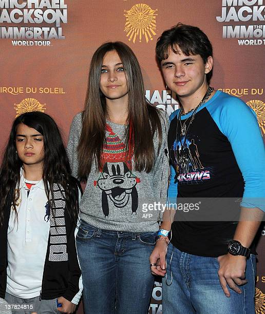 Prince Michael 'Blanket' Jackson Paris Jackson and Prince Jackson arrive at the Michael Jackson The Immortal World Tour in Los Angeles California on...
