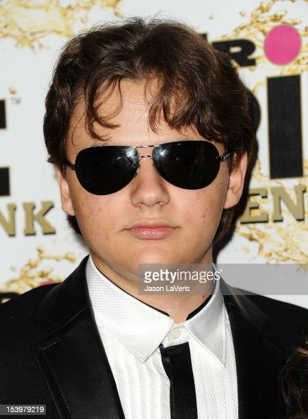 Prince Michael Jackson attends the Mr Pink Ginseng Drink launch party at Regent Beverly Wilshire Hotel on October 11 2012 in Beverly Hills California