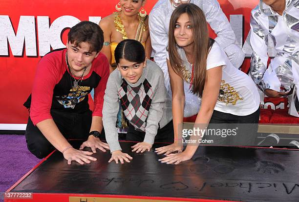 Prince Michael Jackson Blanket Jackson and Paris Jackson attend the immortalization of Michael Jackson at Grauman's Chinese Theatre Hand Footprint...