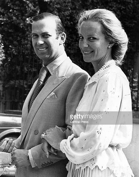 Prince Michael of Kent and Baroness MarieChristian von Reibniz in the grounds of Thatched Lodge House home of his sister Princess Alexandra on the...