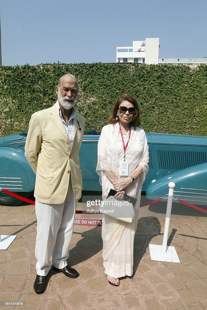 HRH <a gi-track='captionPersonalityLinkClicked' href=/galleries/search?phrase=Prince+Michael+of+Kent&family=editorial&specificpeople=160204 ng-click='$event.stopPropagation()'>Prince Michael of Kent</a> and Princess Esra of Hyderabad at the Cartier 'Travel With Style' Concours 2013 at Taj Lands End on February 10, 2013 in Mumbai, India.
