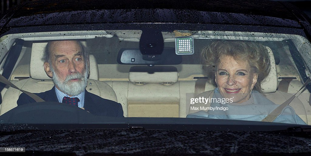 <a gi-track='captionPersonalityLinkClicked' href=/galleries/search?phrase=Prince+Michael+of+Kent&family=editorial&specificpeople=160204 ng-click='$event.stopPropagation()'>Prince Michael of Kent</a> and <a gi-track='captionPersonalityLinkClicked' href=/galleries/search?phrase=Princess+Michael+of+Kent&family=editorial&specificpeople=160260 ng-click='$event.stopPropagation()'>Princess Michael of Kent</a> attend a Christmas lunch for members of the Royal Family hosted by Queen Elizabeth II at Buckingham Palace on December 19, 2012 in London, England.