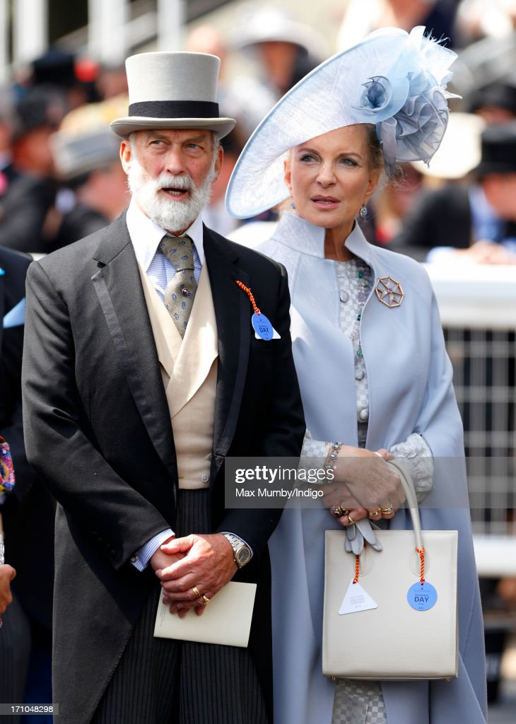 <a gi-track='captionPersonalityLinkClicked' href=/galleries/search?phrase=Prince+Michael+of+Kent&family=editorial&specificpeople=160204 ng-click='$event.stopPropagation()'>Prince Michael of Kent</a> and <a gi-track='captionPersonalityLinkClicked' href=/galleries/search?phrase=Princess+Michael+of+Kent&family=editorial&specificpeople=160260 ng-click='$event.stopPropagation()'>Princess Michael of Kent</a> attend Day 4 of Royal Ascot at Ascot Racecourse on June 21, 2013 in Ascot, England.