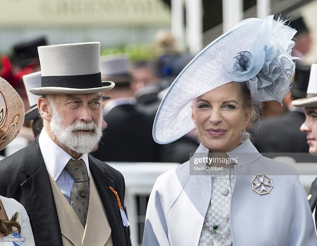 Prince Michael of Kent and Princess Michael of Kent attend Day 4 of Royal Ascot at Ascot Racecourse on June 21, 2013 in Ascot, England.