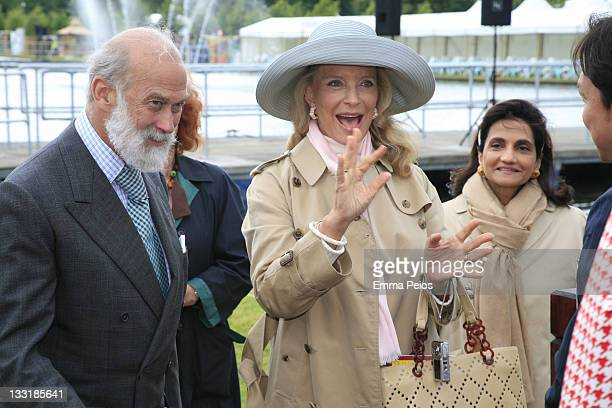 TRH Prince Michael of Kent and Princess Michael of Kent attend Hampton Court Palace Flower Show on July 7 2008 in RichmonduponThames England