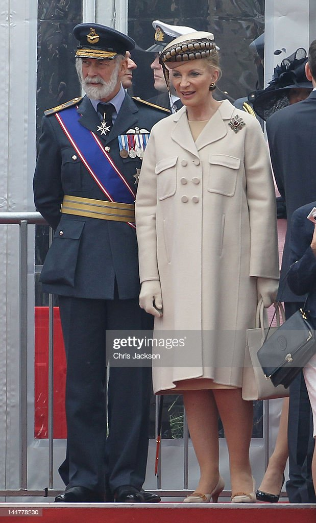 <a gi-track='captionPersonalityLinkClicked' href=/galleries/search?phrase=Prince+Michael+of+Kent&family=editorial&specificpeople=160204 ng-click='$event.stopPropagation()'>Prince Michael of Kent</a> and <a gi-track='captionPersonalityLinkClicked' href=/galleries/search?phrase=Princess+Michael+of+Kent&family=editorial&specificpeople=160260 ng-click='$event.stopPropagation()'>Princess Michael of Kent</a> attend the Armed Forces Parade and Muster on May 19, 2012 in Windsor, England. Over 2500 troops took part in the Diamond Jubilee Muster in Home Park.