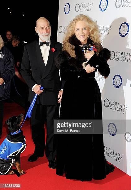 Prince Michael of Kent and Princess Michael of Kent attend the Collars Coats Gala Ball in aid of Battersea Dogs Cats Home at Battersea Evolution on...