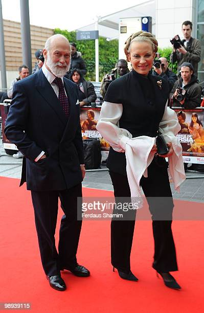 Prince Michael of Kent and Princess Michael of Kent attend the World Premiere of Disney's 'Prince Of Persia The Sands Of Time' at Vue Westfield on...