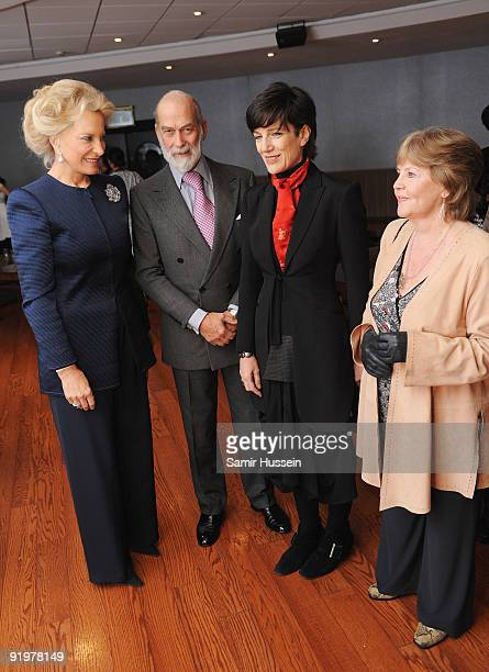 Prince Michael of Kent and Princess Michael of Kent pose with Harriet Walter and Pauline Collins at the arrivals for the premiere of 'From Time To...