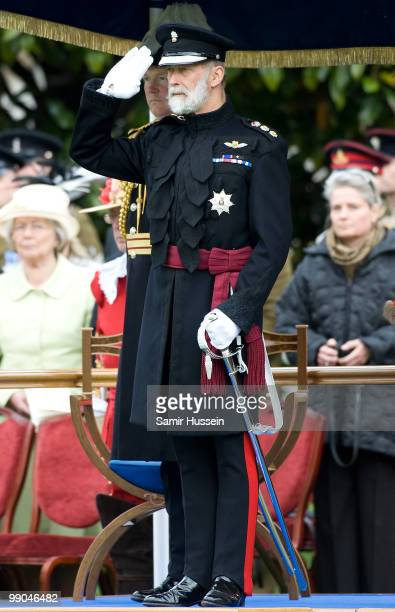 Prince Michael of Kent attend the Queen's review of the Company of Pikemen and Musketeers at HAC Armoury House on May 12 2010 in London England