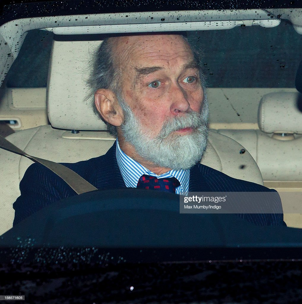 Prince Michael of Kent attends a Christmas lunch for members of the Royal Family hosted by Queen Elizabeth II at Buckingham Palace on December 19, 2012 in London, England.
