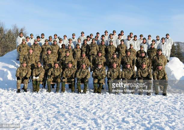 Prince Michael of Kent CommodoreinChief of the Maritime Reserve has his picture taken with Royal Marine Reservists before taking part in the ice...