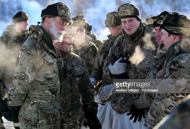 Prince Michael of Kent CommodoreinChief of the Maritime Reserve meets some Royal Marine Reservists as troops take part in Exercise Hairspring 2013...