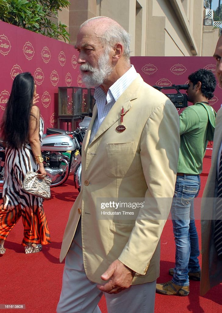 HRH Prince Michael of Kent during Third Cartier Travel With Style Concours D'Elegance Vintage car show at 2013 Taj Lands End on February 10, 2013 in Mumbai, India.
