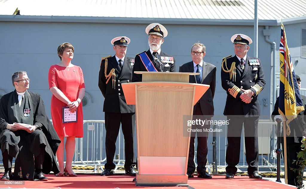 HRH Prince Michael of Kent officially re-opens HMS Caroline on May 31, 2016 in Belfast, Northern Ireland. HMS Caroline is the last surviving ship from the 1916 Battle of Jutland and today hosted a special all island commemoration service ahead of it's reopening to the public tomorrow after a major restoration project. The Battle of Jutland is remembered as the largest and deadliest naval battle of World War One, where more than 6,000 British and more than 2,500 German personnel lost their lives in the 36-hour Battle off the coast of Denmark.