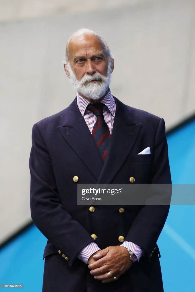 HRH Prince Michael of Kent presents medals on day 10 of the London 2012 Paralympic Games at Aquatics Centre on September 8, 2012 in London, England.