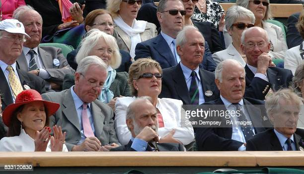 Prince Michael of Kent watches Great Britain's Tim Henman in action against Spain's Feliciano Lopez during The All England Lawn Tennis Championship...