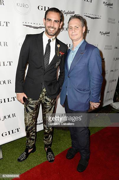 Prince Mohammed Al Thani of Qatar and CEO of DuJour Media Jason Binn attend the DuJour Media Gilt JetSmarter party to kick off Art Basel at The...