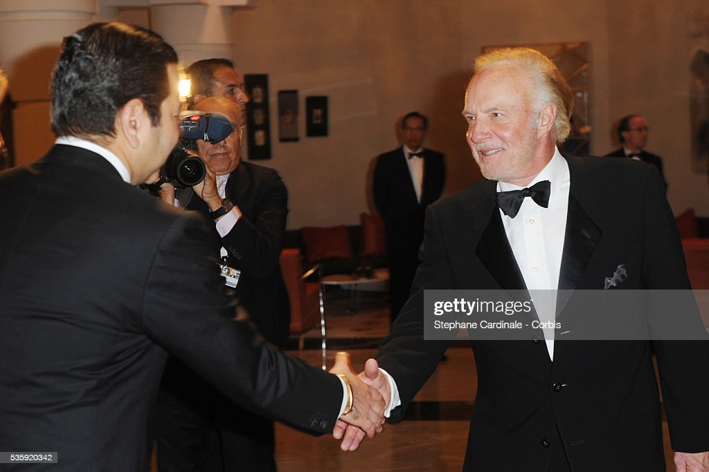 HRH Prince Moulay Rachid meets James Caan during the Marrakech 10th Film Festival.