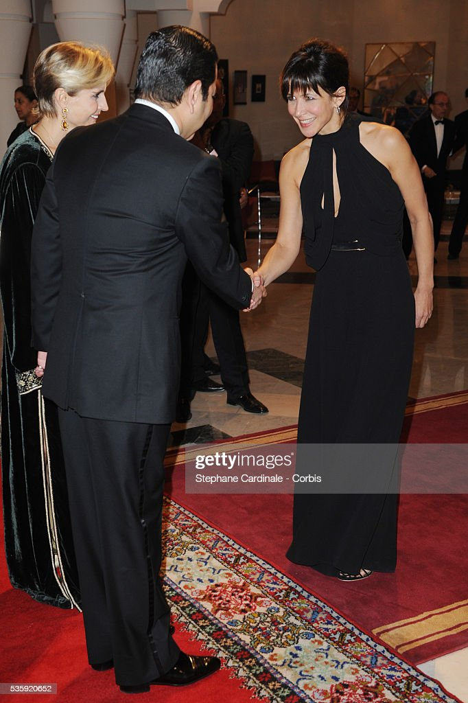 HRH Prince Moulay Rachid meets Sophie Marceau during the Marrakech 10th Film Festival.
