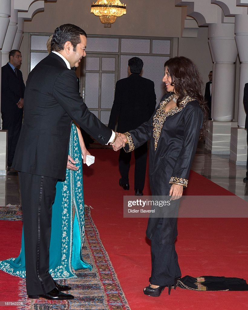 Prince Moulay Rachid of Morocco greets Indian Actors before the Gala Dinner at the Tribute to Hindi Cinema ceremony at the 12th Marrakech international Film Festival on November 30, 2012 in Marrakech, Morocco.