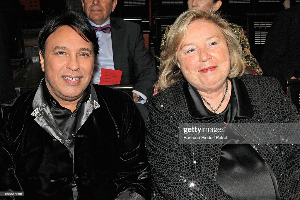Prince Mubarak Fahad S. Al Sabah (L) and Maryvonne Pinault, wife of Francois Pinault, attend the Arop Gala Event for Carmen New Production Launch at Opera Bastille on December 13, 2012 in Paris, France.