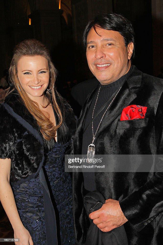 Prince Mubarak Fahad S. Al Sabah (R) and Tania Kassis attend the gala dinner of Professor David Khayat's association 'AVEC', at Chateau de Versailles on February 4, 2013 in Versailles, France.