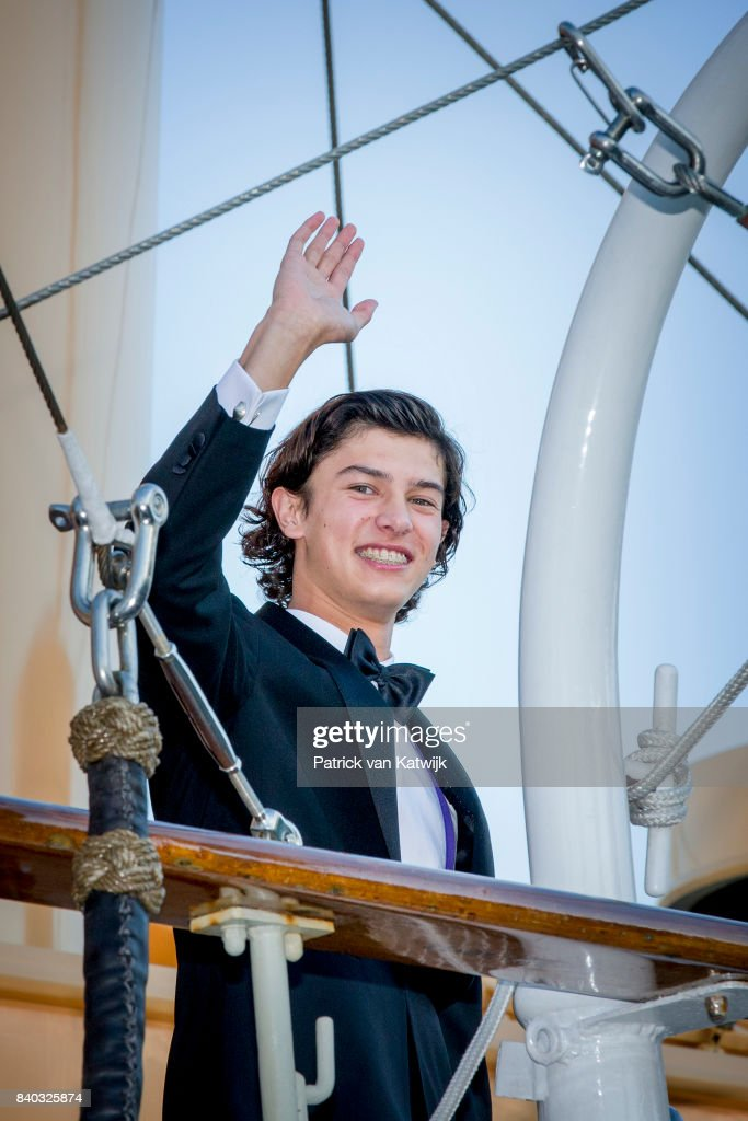 Prince Nikolai of Denmark attends his 18th birthday celebration of Prince Nikolai at royal ship Dannebrog on August 28, 2017 in Copenhagen, Denmark.