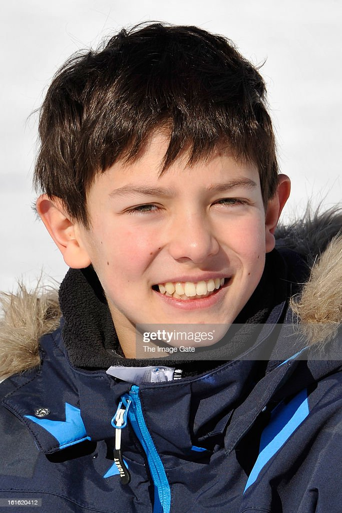 Prince Nikolai of Denmark meets the press, whilst on skiing holiday in Villars on February 13, 2013 in Villars-sur-Ollon, Switzerland.