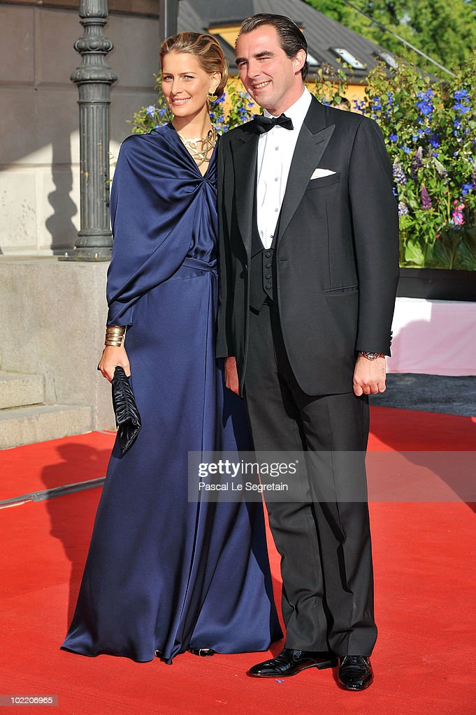 Prince Nikolaos and Ms. Tatiana Blatnik attends the Government Pre-Wedding Dinner for Crown Princess Victoria of Sweden and Daniel Westling at The Eric Ericson Hall on June 18, 2010 in Stockholm, Sweden.
