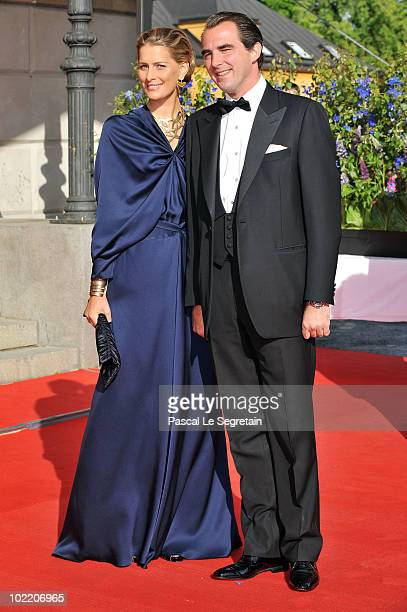 Prince Nikolaos and Ms Tatiana Blatnik attends the Government PreWedding Dinner for Crown Princess Victoria of Sweden and Daniel Westling at The Eric...