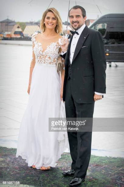 Prince Nikolaos and Princess Tatiana of Greece arrive at the Opera House on the ocassion of the celebration of King Harald and Queen Sonja of Norway...
